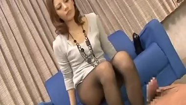 M man detonation Blow pantyhose Footjob of beauty Slut