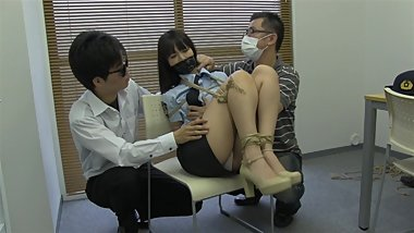 Japanese Tied Up In Police Outfit