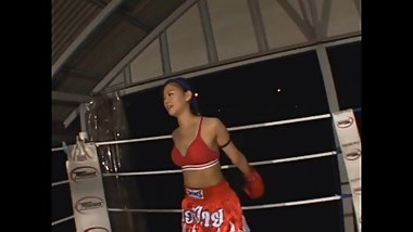 Japanese thai boxing training and pov