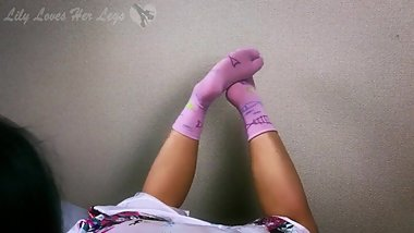 Japanese Tabi Sock Footjob Cum Explosion all over Japanese Tabi Toe Socks