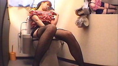 Naughty Girl Toilet Room Masturbation
