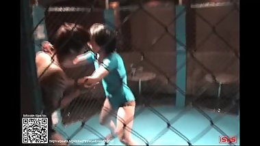 Wrestling 0014 Japanese Girl Cage Match