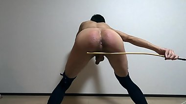 Japanese nasty socks caning