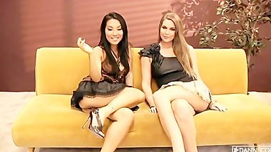 Adrienne Manning and Asa Akira - Web cam show
