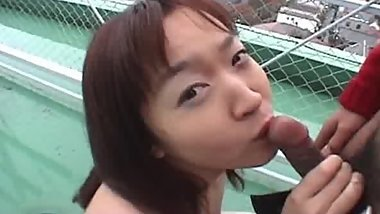Hina's Outdoor Sucking 4 by GotCuteAsian part1