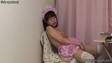Japanese Teen Maid Masturbation