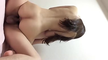 Japanese girl is dancing on cock
