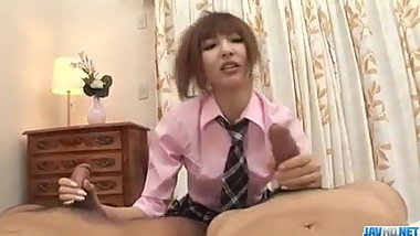 Kotone Aisaki blows a big dick before getting pumped