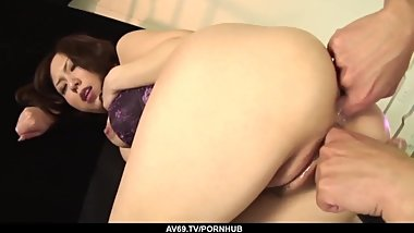 Karen gets enough cock in her pussy and ass