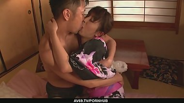 MarikaA?s japan girl blowjob ends in a pussy creampie