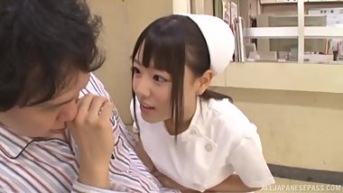 japanese nurse loves to take fuck from men