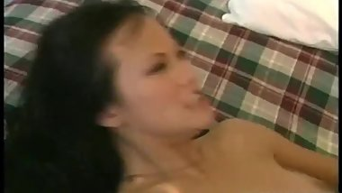 Hot asian babe gets fucked doggy part3