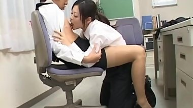 Cock hungry asian sluts sucking, fucking part1