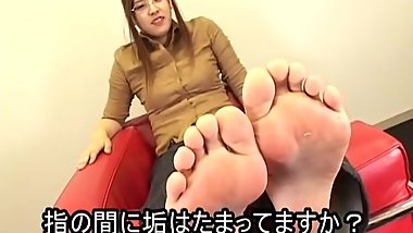 Japanese nerdy feet and toes
