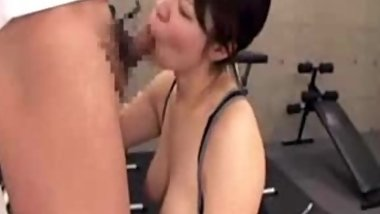 japanese fitness instructor has big desire for big dick