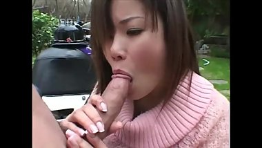 Oral Creampie Countdown: Japanese Biker Girl Gets a Mouthful of Cum