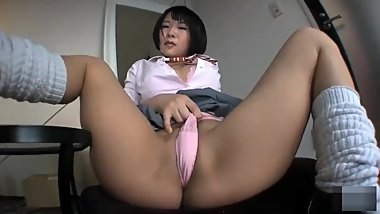Cute asian with fat ass shows panties