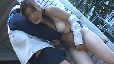 Asian lady has some hot sex in public part3